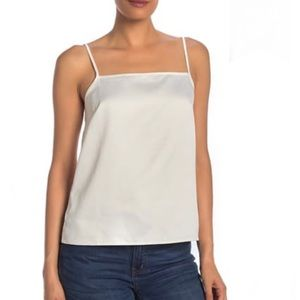 J.Crew Solid IVORY Woven Camisole TANK TOP LARGE
